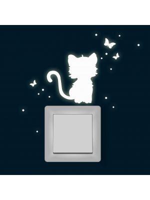 Katze Fluoreszierend