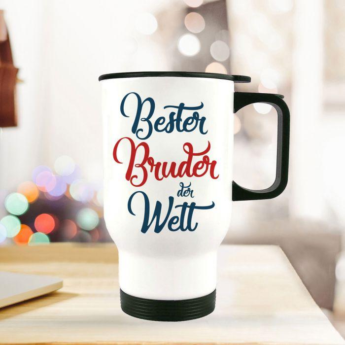 Thermobecher Isolierbecher Bester Bruder Spruch Trinkbecher bedruckt ...