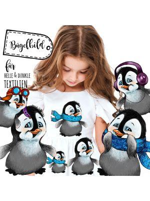 Bügelbilder Pinguine