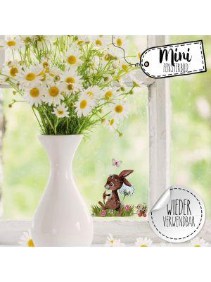 Mini-Fensterbild Hase Ente Spielzeug wiederverwendbar Fensterbilder bf39mini