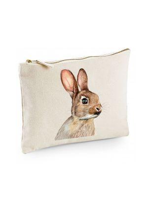Canvas Pouch Tasche mit süßen Hasen Kaninchen Waschtasche Kulturbeutel bedruckt cl23