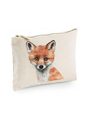 Canvas Pouch Tasche mit Fuchs Waschtasche Kulturbeutel individuell bedruckt cl30