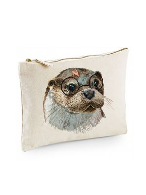 Canvas Pouch Tasche Harry Otter mit Brille Waschtasche Kulturbeutel Kosmetiktasche cl47