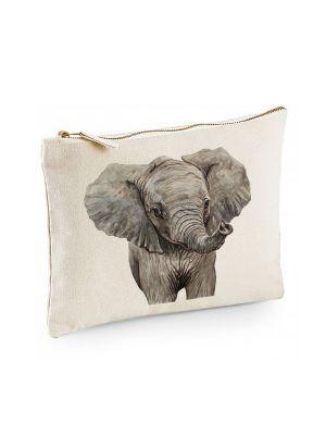 Canvas Pouch Tasche Elefant Waschtasche Kulturbeutel Kosmetiktasche bedruckt cl52