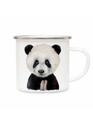 Emaillebecher Tierbecher Campingbecher Kaffeebecher mit Panda Geschenk eb221