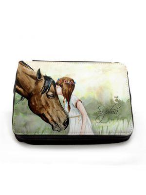 Federmappe Pferd