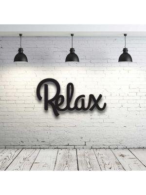 Wanddeko Dekoration Holz Holzschriftzug Schriftzug Relax H021