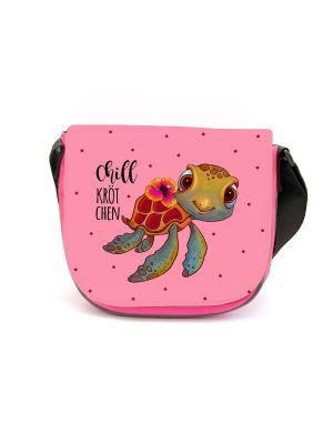 Kindergartentasche Schildkröte Chillkrötchen Tasche rosa Wunschname kgt43