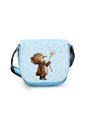 Kindergartentasche Bär Bärchen Pusteblume blau Kindertasche Wunschname kgt46