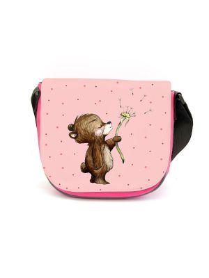 Kindergartentasche Bär Pusteblume rosa Kindertasche Wunschname kgt47