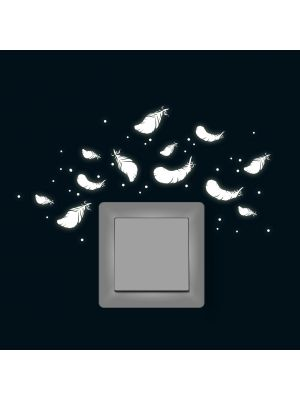 Fluoreszierend Federn