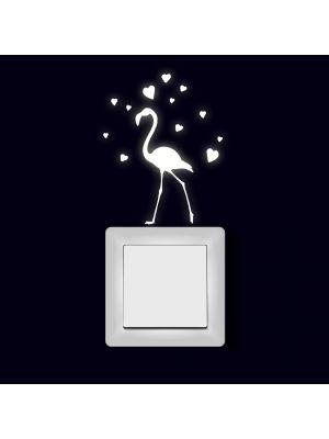 Fluoreszierend Flamingo