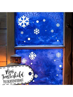 Fensterbild Schneeflocken