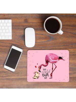 Mousepad Flamingo Geburtstag Mouse Pad Mausunterlage mit Spruch