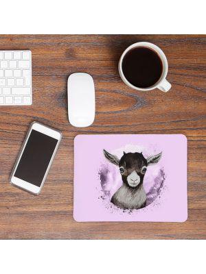 Mousepad mouse pad Mauspad mit Ziege Zicklein Mausunterlage Schreibtisch mouse pads Tier m68
