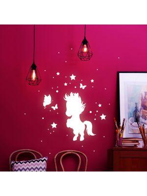 Leuchtsticker Pferd