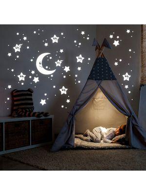 Leuchtsticker Sternenhimmel