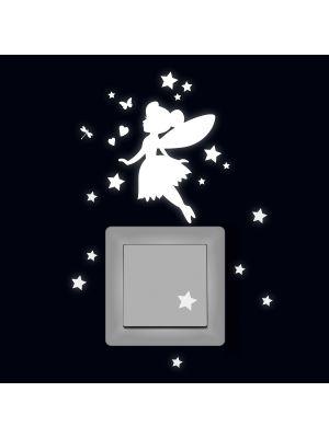 Lichtschaltertattoo Elfe