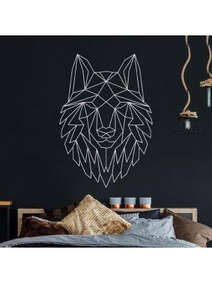 Wandtattoo geometrischer Wolf polygonaler Stil Wanddeko Flur Wohnzimmer M2430