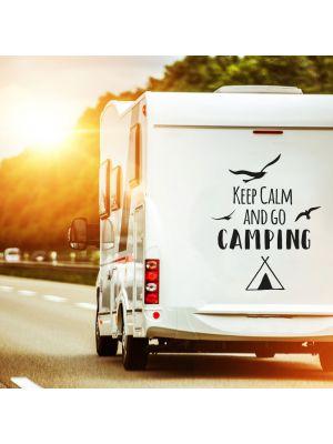 Autotattoo Camping Wohnwagen Zelt Spruch
