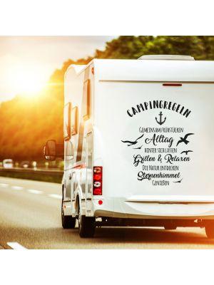 Autotattoo Camping Wohnwagen Campingregeln Wohnmobil M2376