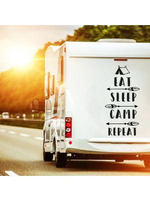 Autotattoo Camping Wohnwagen Sticker Spruch