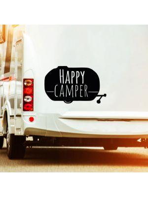 Autotattoo Camping Wohnwagen Sticker Happy Camper Wohnmobil M2378