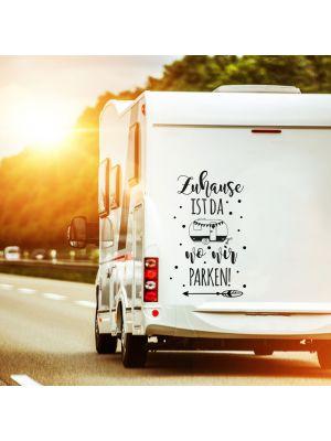 Autotattoo Camping Wohnwagen Spruch