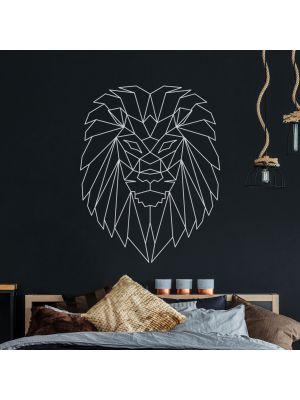 Wandtattoo geometrischer Löwe polygonaler Stil Wanddeko Flur Wohnzimmer M2431