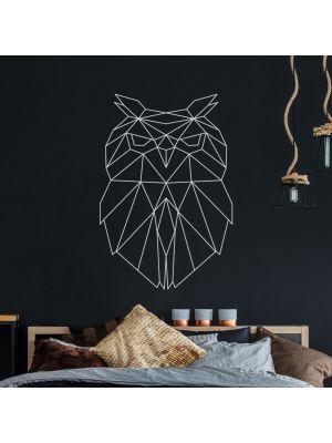 Wandtattoo geometrische Eule polygonal Wanddeko Flur Wohnzimmer M2432