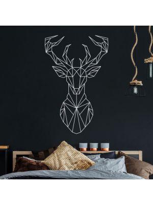 Wandtattoo geometrischer Hirsch polygonaler Stil Wanddeko Flur Wohnzimmer M2433
