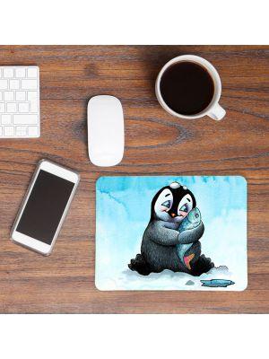 Mousepad mouse pad Mauspad Pinguin Fisch Mausunterlage für den Schreibtisch mouse pads mp40