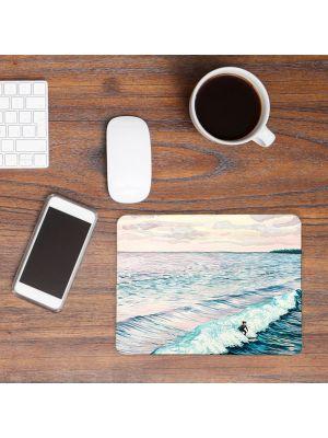 Mousepad mouse pad Mauspad Surferin Wellen Wasser Meer Mausunterlage Schreibtisch mp41
