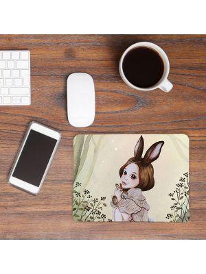 Mousepad mouse pad Mauspad Hase Hasenmädchen Wald Mausunterlage bedruckt mouse pads mp45