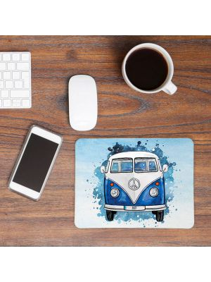 Mousepad mouse pad Mauspad blauer Bulli Bus mit Name Wunschnamen Roadtrip mp61