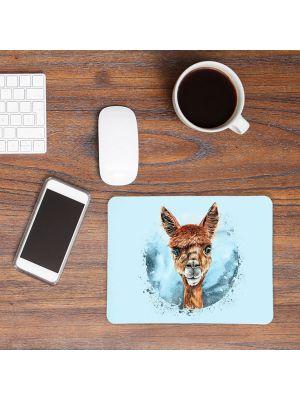 Mousepad mouse pad Mauspad mit süßen Alpaka Mausunterlage Schreibtisch mouse pads Tier mp67