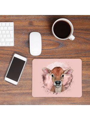 Mousepad mouse pad Mauspad mit süßen Kälbchen Mausunterlage bedruckt mouse pads Tier mp70