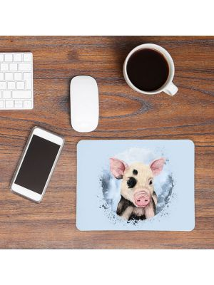 Mousepad mouse pad Mauspad mit süßen Schweinchen Schwein Mausunterlage mouse pads Tier mp71