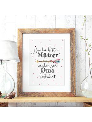 A3 Print Poster mit Punkte & Spruch nur die besten Mütter... Plakat Druck Motto Zitat p136