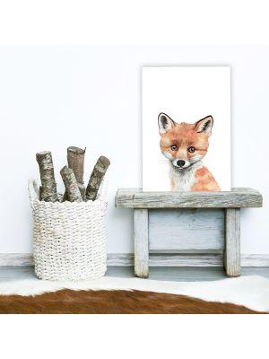 A4 oder A3 Poster Print Wandbild Fuchs Tierposter Tierbild Geschenk p171