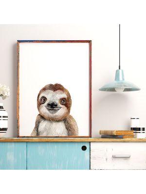 A4 oder A3 Poster Print Wandbild Faultier Tierposter Tierbild Geschenk p172