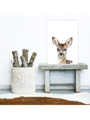A4 oder A3 Poster Print Wandbild Rehkitz Tierposter Tierbild Geschenk p173