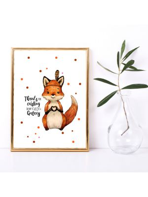 A3 Print Fuchs Herz Thanks for existing in my little Galaxy Poster Plakat p223