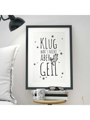 A3 Print Illustration Poster Plakat Faultier mit Spruch
