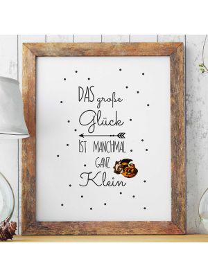 A3 Print Illustration Poster Plakat Waschbär Baby mit Spruch