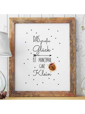 A3 Print Illustration Poster Plakat Waschbär Baby Mädchen mit Spruch