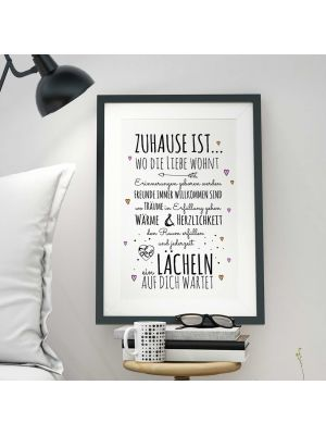 A3 Print Illustration Poster Plakat Spruch
