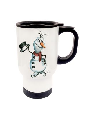 Tasse Becher Thermotasse Thermobecher Thermostasse Thermosbecher Schneemann Ole cup mug thermo mug thermo cup snowman Ole tb014