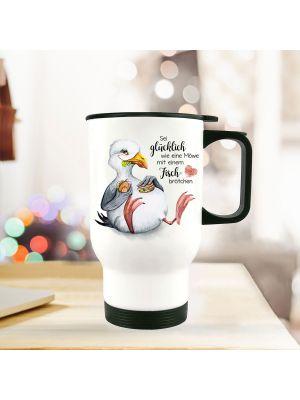 Thermobecher Isolierbecher Möwe Vogel Sei glücklich wie eine Möwe tb258