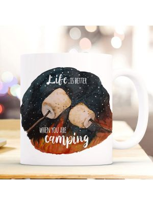 Tasse Becher Marshmallows Life is better when you are camping Geschenk ts1004